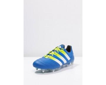 Zapatos de fútbol adidas Performance Ace 16.1 Sg Hombre Shock Azul/Semi Solar Slime/Blanco,chaquetas adidas retro,ropa adidas running,tienda online