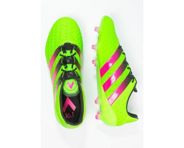Zapatos de fútbol adidas Performance Ace 16.1 Fg/Ag Hombre Solar Verde/Shock Rosa/Núcleo Negro,adidas superstar doradas,zapatillas adidas baratas,más de moda