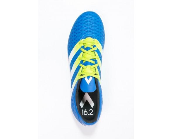 Zapatos de fútbol adidas Performance Ace 16.2 Fg/Ag Hombre Shock Azul/Semi Solar Slime/Blanco,adidas negras,adidas negras y doradas,corriente principal