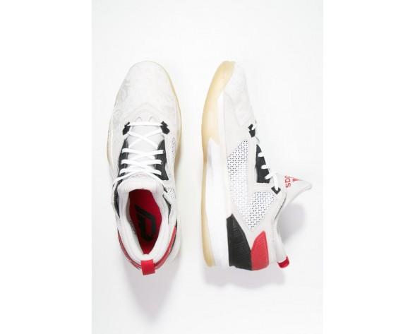 Zapatos de baloncesto adidas Performance D Lillard 2 Hombre Blanco/Núcleo Negro/Scarlet,bambas adidas baratas,zapatos adidas blancos,españa tienda