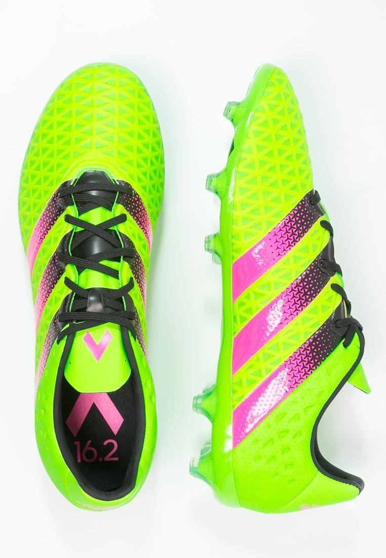 Zapatos de fútbol adidas Performance Ace 16.2 Fg Ag Hombre Solar Verde Shock  Rosa Núcleo Negro 47e2ef2fb2e73