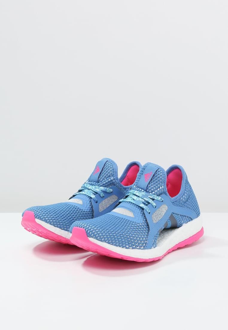 san francisco 2b959 e3e1e Zapatos para correr adidas Performance Pureboost X Mujer Shock Azul Halo  Azul Shock Rosa. Precio regular  120,45 €
