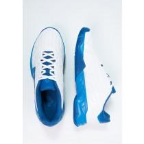 Deportivos calzados adidas Performance Barricade Court 2 Hombre Blanco/Shock Azul,adidas negras suela dorada,adidas blancas,baratas