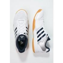 Zapatos de voleibol adidas Performance Ligra 3 Hombre Blanco/Colegial Armada/Tech Plata Metallic,zapatillas adidas gazelle og,tenis adidas outlet bogota,sabor