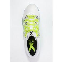 Zapatos de fútbol adidas Performance X 15.4 In Hombre Blanco/Semi Solar Slime/Núcleo Negro,zapatos adidas outlet,adidas ropa barata,avanzado