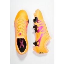 Zapatos de fútbol adidas Performance X 15.2 Fg/Ag Hombre Solar Oro/Núcleo Negro/Shock Rosa,adidas baratas online,adidas negras y doradas,más activo