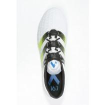 Zapatos de fútbol adidas Performance Ace 16.1 Fg/Ag Hombre Blanco/Semi Solar Slime/Shock Azul,chaquetas adidas,adidas baratas online,catalogo