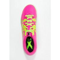 Zapatos de fútbol adidas Performance X 15.4 In Hombre Shock Rosa/Solar Verde/Núcleo Negro,ropa imitacion adidas,ropa adidas outlet madrid,outlet madrid