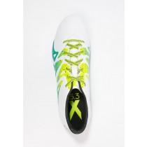 Zapatos de fútbol adidas Performance X 15.3 Fg/Ag Hombre Blanco/Núcleo Negro/Semi Solar Slime,ropa adidas running barata,tenis adidas outlet,Madrid online
