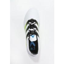 Zapatos de fútbol adidas Performance Ace 16.3 Fg/Ag Hombre Blanco/Semi Solar Slime/Shock Azul,adidas sudaderas outlet,adidas ropa,Nuevo estilo