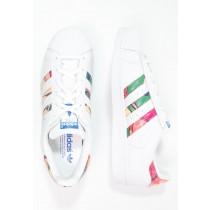 Trainers adidas Originals Superstar Mujer Blanco/Lab Azul,ropa adidas trail running,zapatillas adidas rosas,originales