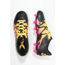 Zapatos de fútbol adidas Performance X 15.4 Fxg Hombre Negro Shock Rosa Solar  Oro b3da7d1e24c0e