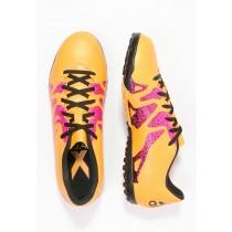 Astro turf trainers adidas Performance X 15.4 Tf Hombre Solar Oro/Núcleo Negro/Shock Rosa,zapatillas adidas superstar,adidas negras suela dorada,sin paralelo