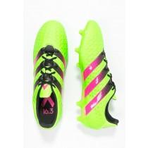 Zapatos de fútbol adidas Performance Ace 16.3 Fg/Ag Hombre Solar Verde/Shock Rosa/Núcleo Negro,adidas running shoes,chaquetas adidas superstar,tesoro