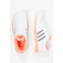 Deportivos calzados adidas Performance Barricade Aspire Mujer Blanco/Núcleo Negro/Sun Glow,tenis adidas baratos,venta relojes adidas baratos,búsqueda superior