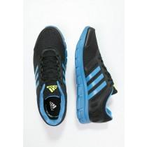 Zapatos para correr adidas Performance Breeze 101 2 Hombre Negro/Super Azul/Solar Amarillo,tenis adidas baratos,ropa adidas outlet,primer plano