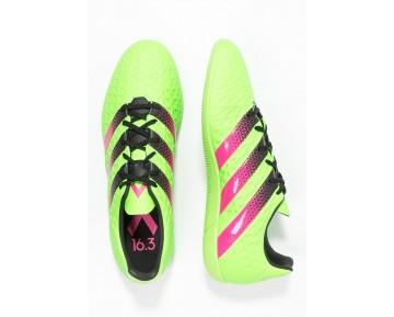 Zapatos de fútbol adidas Performance Ace 16.3 In Hombre Solar Verde/Shock Rosa/Núcleo Negro,adidas running zapatillas,zapatos adidas ecuador,españa online